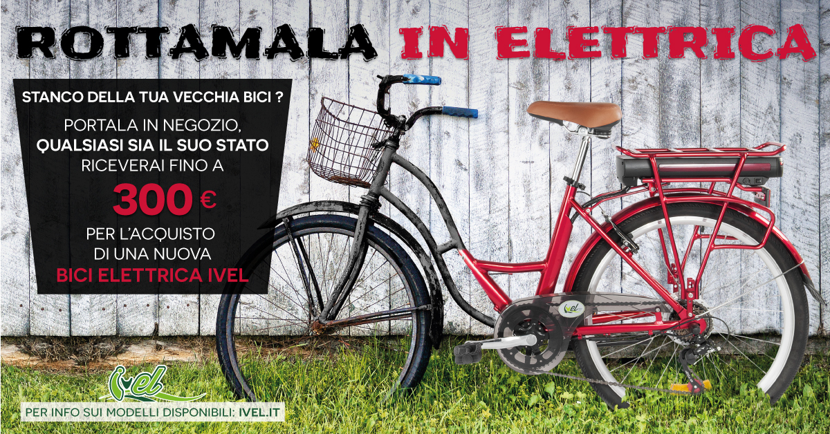 A Novembre E Dicembre Rottamala In Elettrico Ivel Bici